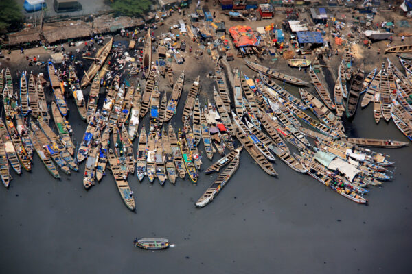 Fishing boats in Accra Point, Ghana. Credit: Shutterstock